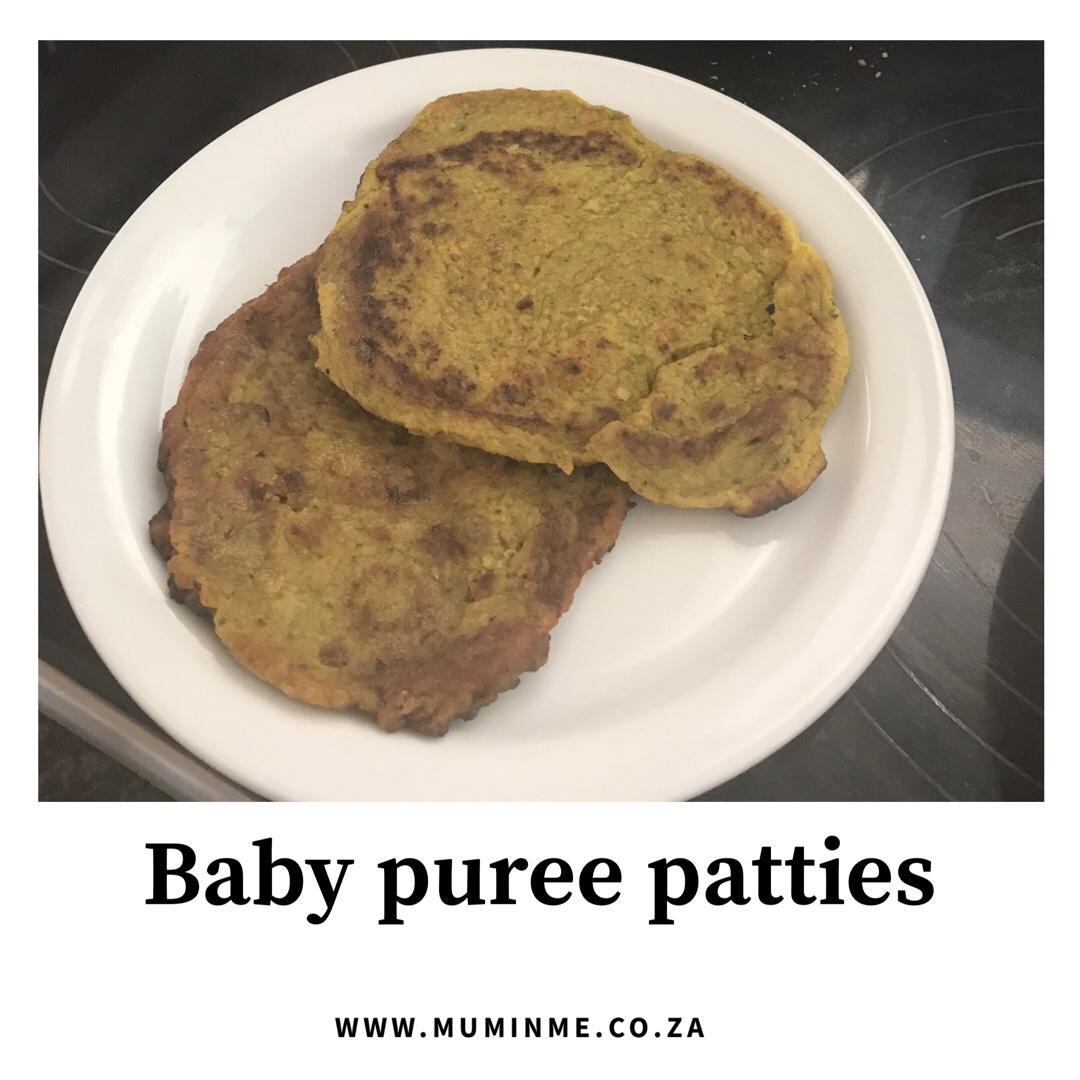 Vegetable purée patties